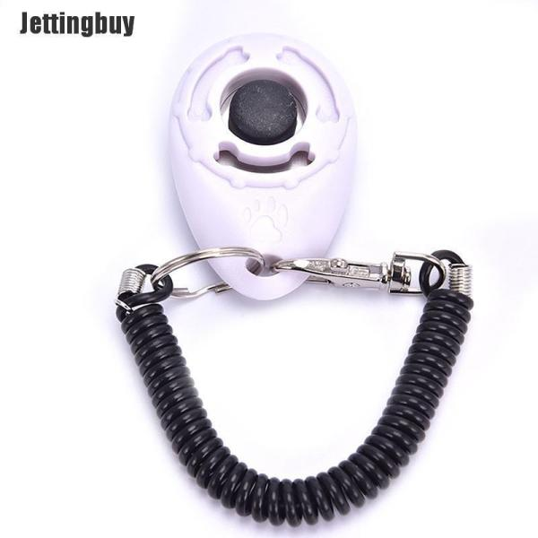 Còi Huấn Luyện Chó Jettingbuy Clicker Huấn Luyện Thú Cưng Dụng Cụ Huấn Luyện Chó Cưng Điều Chỉnh Được Trắng