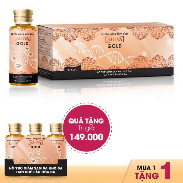 Collagen Adiva Gold dạng nước 14 lọ x 30ml - Tặng 3 lọ Collagen Adiva Gold cao cấp