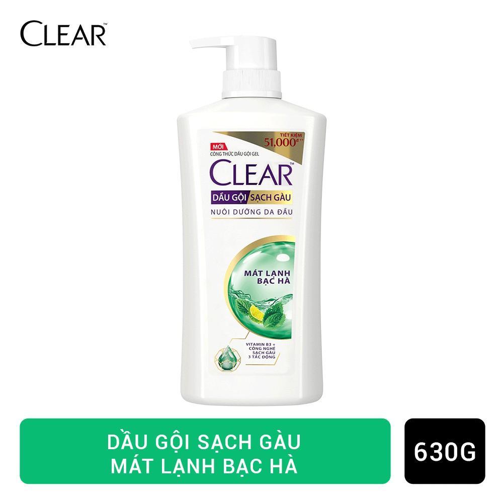CLEAR Dầu Gội Mát Lạnh Bạc Hà 630G tốt nhất