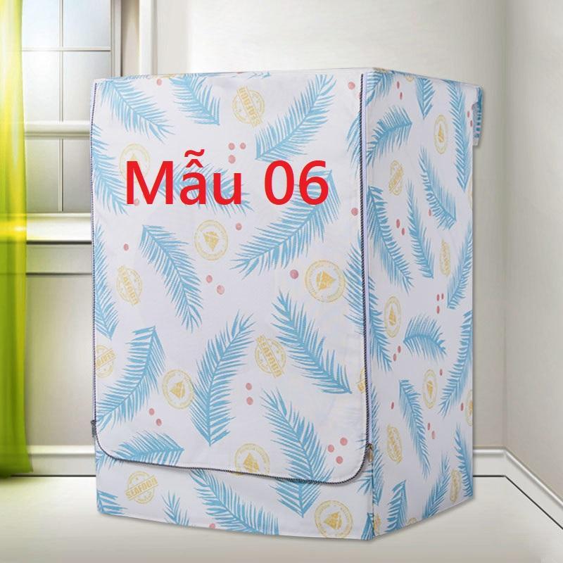 Vỏ bọc, áo trùm máy giặt lồng ngang, cửa trước vải bạt siêu bền đẹp chống nước