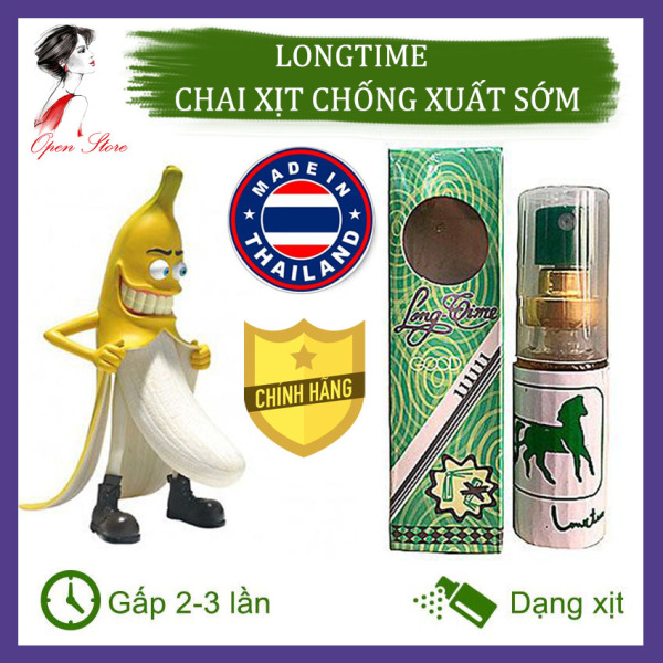 [CHÍNH HÃNG] Tinh Dầu Xịt Longtime Thái Lan, Tăng Cường Sinh Lý Nam, Kéo Dài Thời Gian Quan Hệ, Open Store giá rẻ