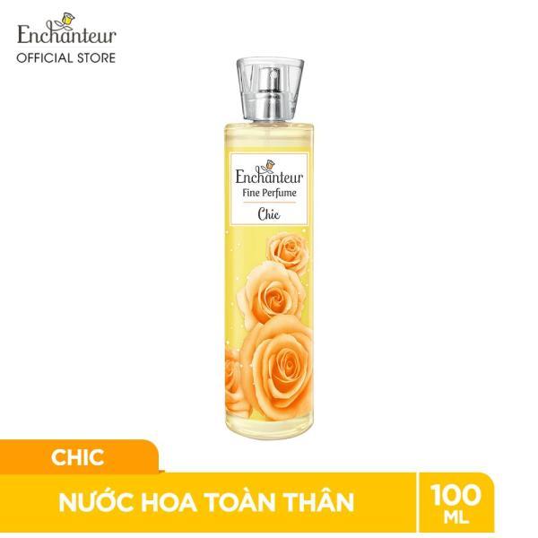 Nước hoa toàn thân cao cấp Enchanteur hương Chic 100ml nhập khẩu