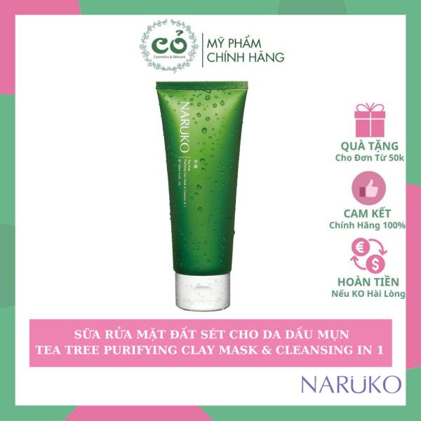 [HCM]Sữa rửa mặt Naruko tea tree purifying clay mask & cleanser in 1 thành phần của sản phẩm hoàn toàn lành tính và an toàn cho người sử dụng cao cấp