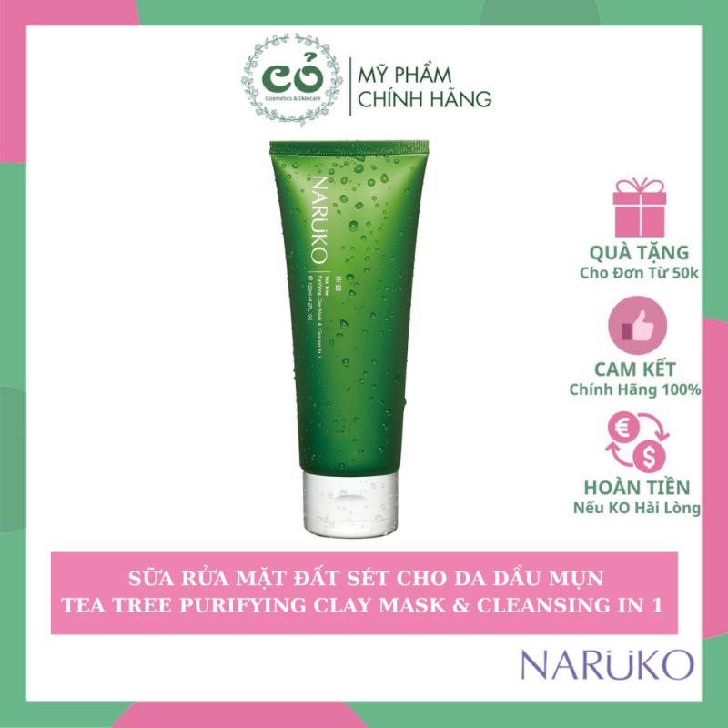 Sữa rửa mặt Naruko tea tree purifying clay mask & cleanser in 1 thành phần của sản phẩm hoàn toàn lành tính và an toàn cho người sử dụng