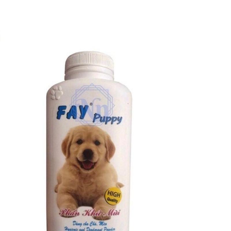 Phấn tắm khô Fay Puppy khử mùi diệt khuẩn cho chó mèo thú cưng 120g