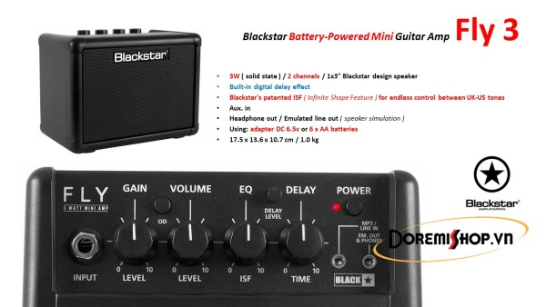 Blackstar Mini Guitar Amp Fly 3