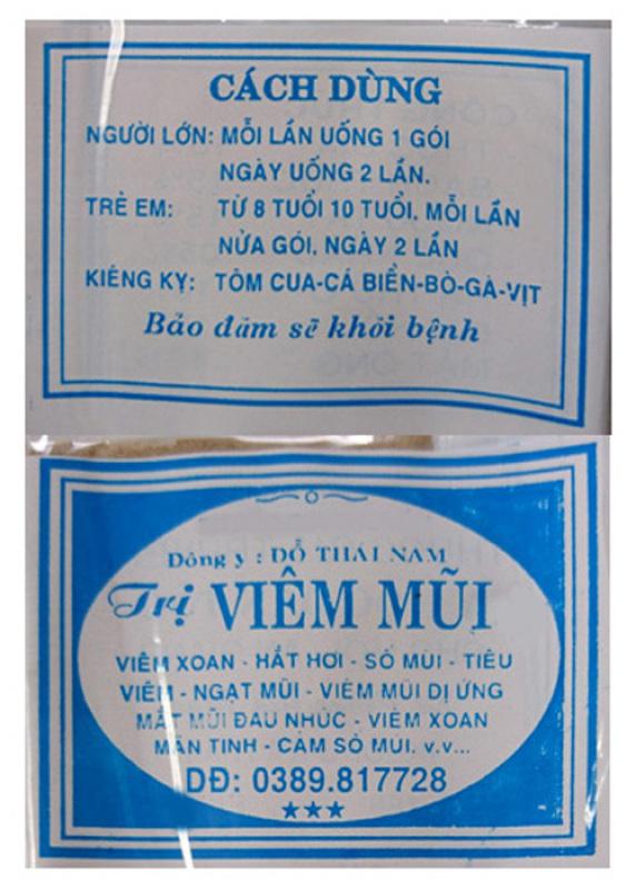 30 Gói Viêm mũi Đỗ Thái Nam (dạng viên) Chính gốc