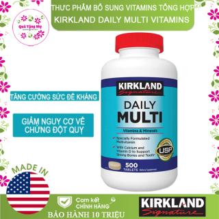 Thưc phẩm bổ sung Vitamins Tổng hợp Kirkland Daily Multi Vitamins (500 Viên) - Nhập khẩu Mỹ thumbnail