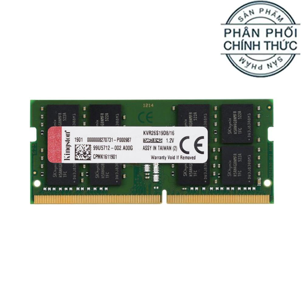 Ram Laptop Kingston ValueRAM DDR4 16GB 2666MHz KVR26S19D8/16 - Hãng Phân Phối Chính Thức
