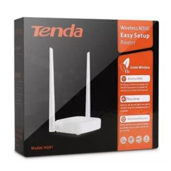 Thiết bị phát sóng WIFI 2 ANTEN tốc độ 300M TENDA N301 - Bảo hành 18 tháng