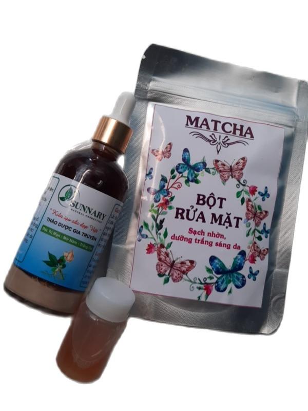 Thảo dược Sunnary làm sạch mụn nám tái tạo da mới 100ml tặng kèm bột rửa mặt và kèm hồng da giá rẻ
