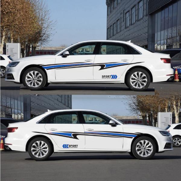 Tem xe ô tô cao cấp phong cách thể thao TS060 (xanh)