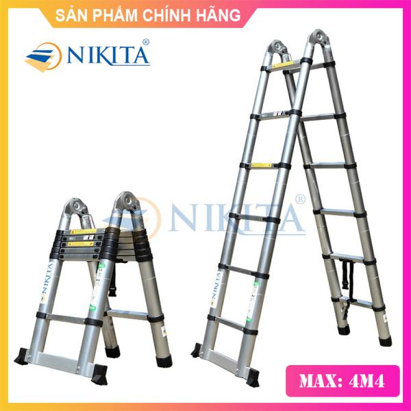 Thang Nhôm Rút Đôi 4m4 NIKITA NKT-AI44 - Hàng Chính Hãng