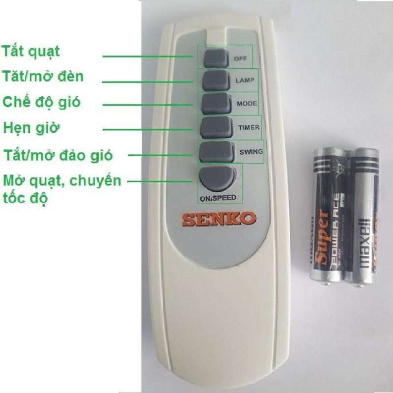 Remote điều khiển quạt senko + 2 pin maxell aaa