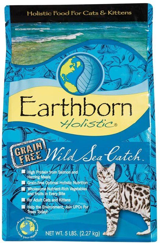 Earthborn Holistic Wild Sea Catch - Cho tất cả giống mèo - Thức ăn hạt khô