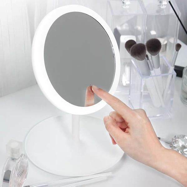 Gương Trang Điểm Tròn Để Bàn Có Đèn Led Cảm Ứng 3 Chế Độ Ánh Sáng Sạc Điện USB -Tuhai Shop- Gương Thông Minh Có Đèn Cảm Ứng Siêu Lung Linh Magic Makeup Mirror With Sensor Led