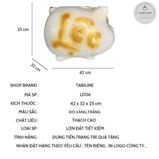 Lợn đất tiết kiệm đựng tiền size SIÊU TO cute đẹp giá rẻ TABILINE LD06 3