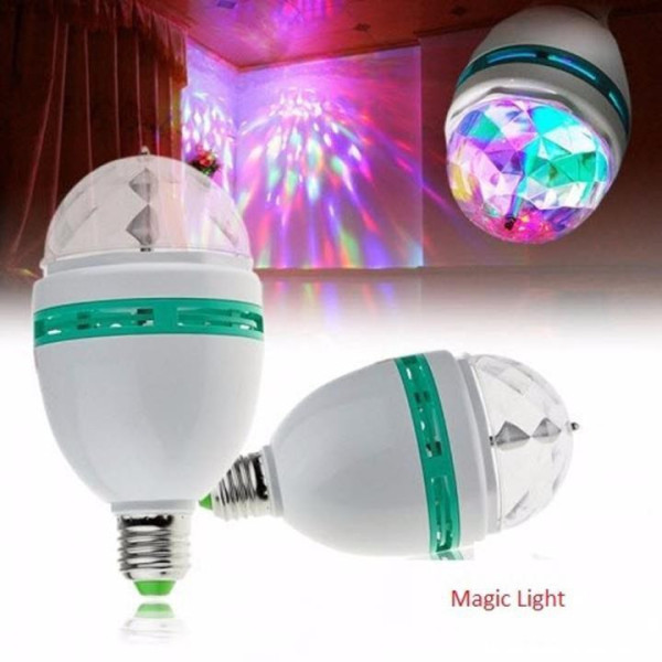 (KÈM CHUÔI ĐÈN)Đèn led xoay 7 màu vũ trường, đèn chớp trang trí sân khấu, đèn quẩy bar, club, xoay 360 độ , thích hợp cho các buổi họp mặt, buổi tiệc cùng bạn bè và người thân