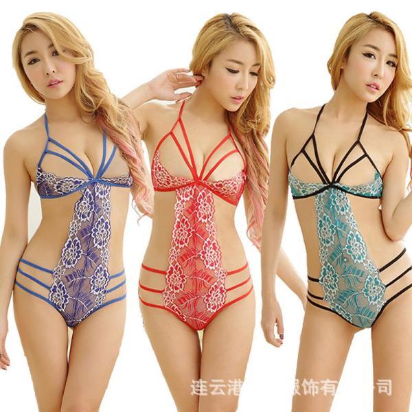 Bộ bikini ren dây hoa văn sexy - 345