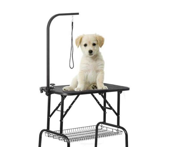 Bàn cắt tỉa lông chó mèo Size M 90x55cm cao 72 hình chữ nhật chuyên dùng cho spa grooming thú cưng
