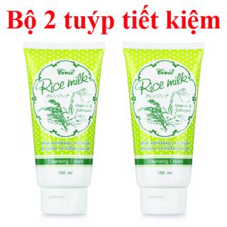 Bộ 2 Tuýp Sữa Rửa Mặt Gạo Rice Milk Thái Lan sạch nhờn, ngừa mụn, an toàn cho da (180ml x2) thumbnail