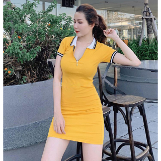 Đầm nữ thời trang XIXO cao cấp phối khóa kéo - cotton 100% - Đầm body - Váy nữ - Váy body - Đầm dạ hội - Đầm dự tiệc thumbnail