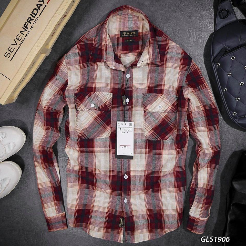 Áo Sơ Mi Shirts Linen Đũi GUSTA  GLS1906 Với Giá Sốc