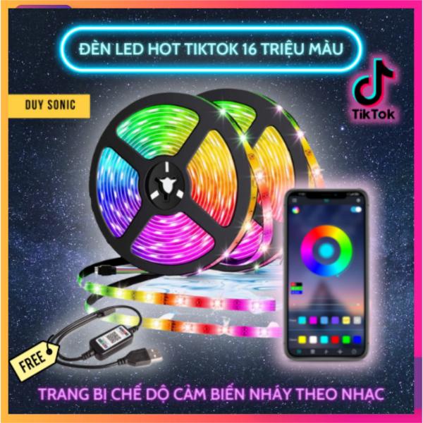 Bảng giá Cuộn dây đèn led Tiktok, Dây đèn led RGB 5050 điều khiển thông minh 16 triệu màu hot Tiktok, Đèn dán tường thông minh