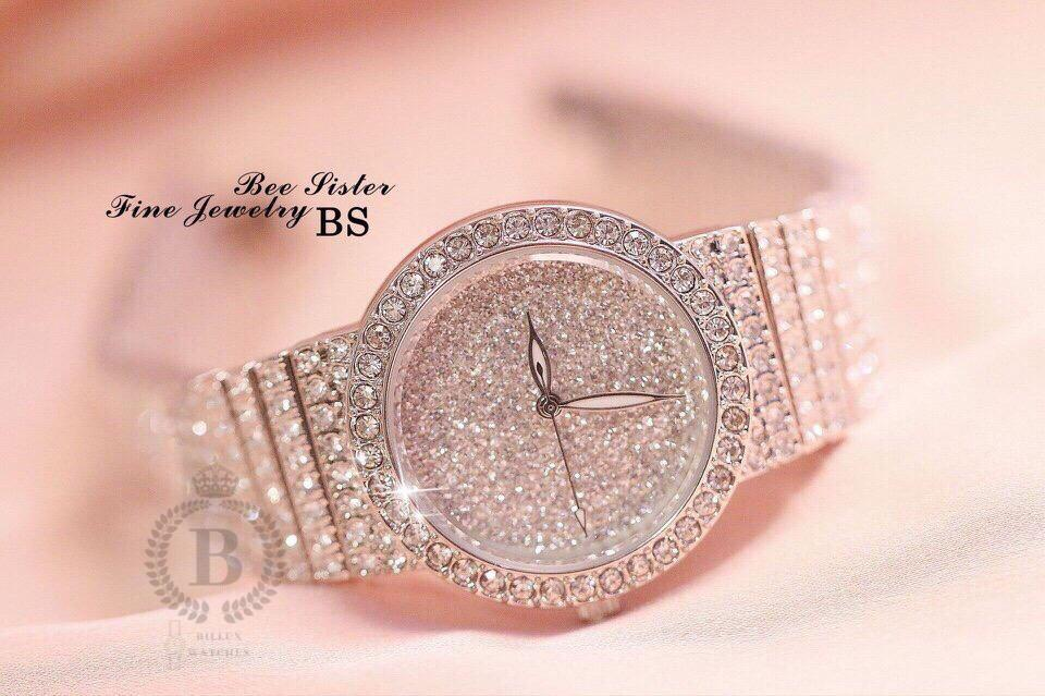 Nơi bán Đồng hồ Nữ BS (Bee Sister 14) thời trang cao cấp [Billux] dây kim loại - 25mm (2 màu) [BSSMT002]