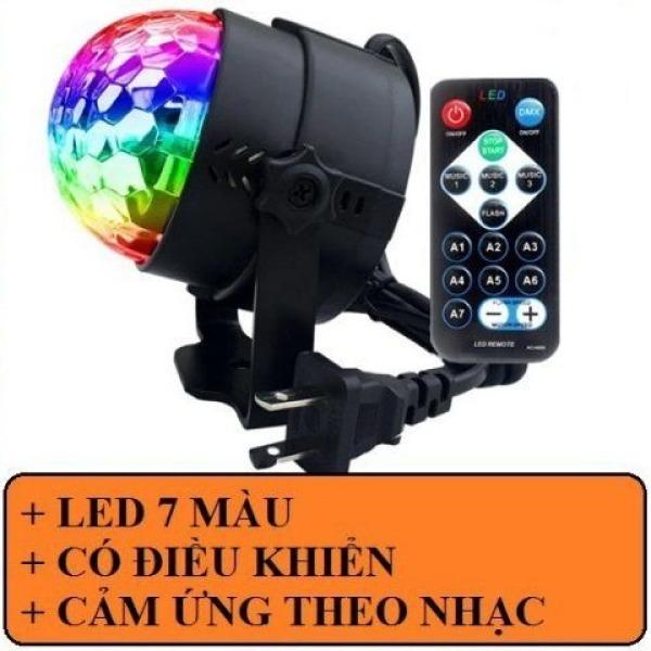 Bảng giá [HCM]Đèn LED 7 màu vũ trường cảm ứng nhạc bóng đèn LED trụ đèn LED xoay 7 màu sân khấu chớp theo nhạc.