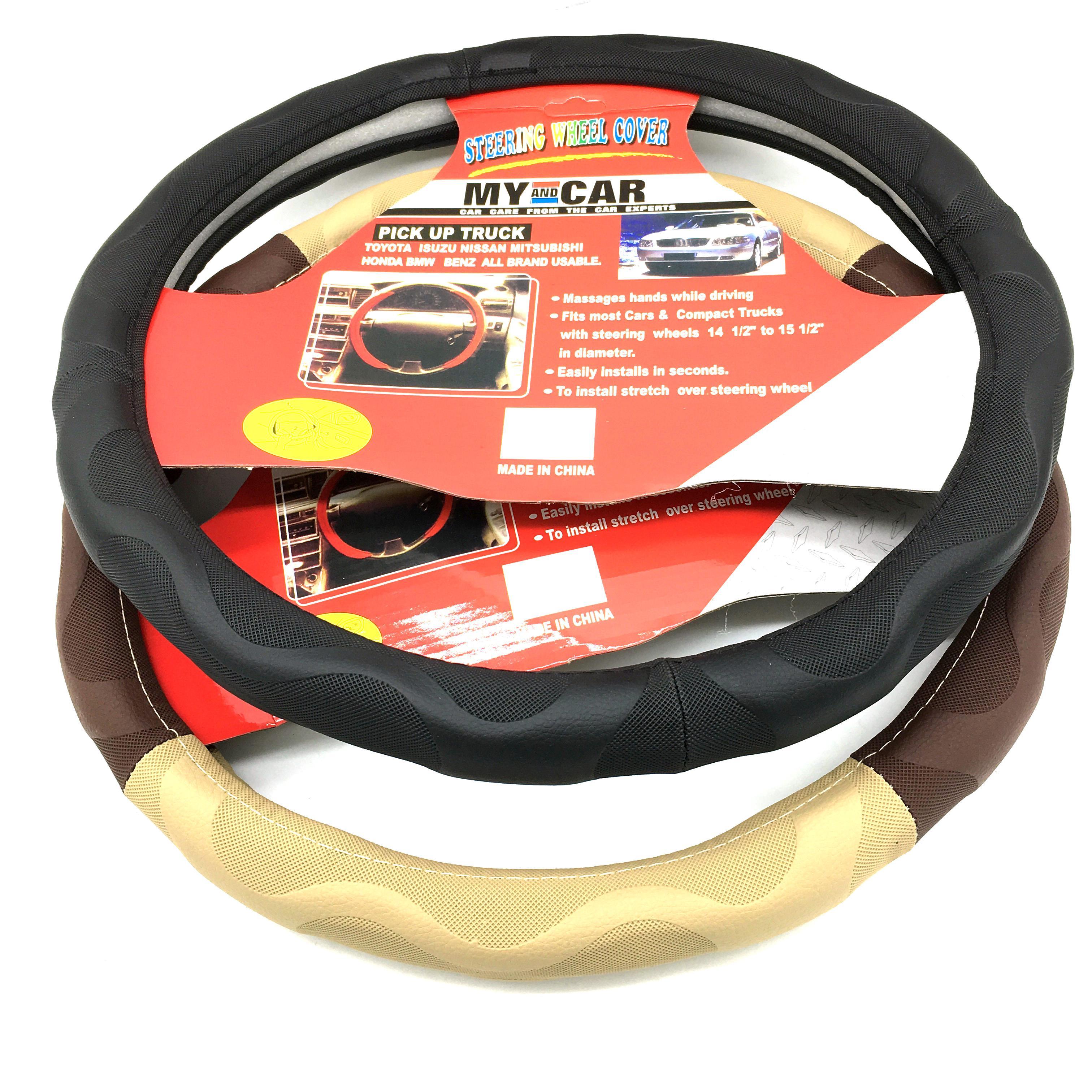 Vỏ bọc vô lăng 2 màu, vỏ bao bánh lái, cần lái xe hơi, xe ôtô, nhiều kích cỡ phù hợp đường kính bánh lái từ 36 đến 40 cm phù hợp hầu hết xe 4-5-7 chỗ và xe tải_BVL02 - 3