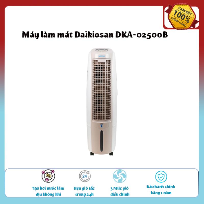 Máy làm mát Daikiosan DKA-02500B..Loại quạt: Quạt điều hòa , Làm mát, Tạo hơi nước làm dịu không khí,Tốc độ gió: 3 mức, hàng chính hãng giá ưu đãi