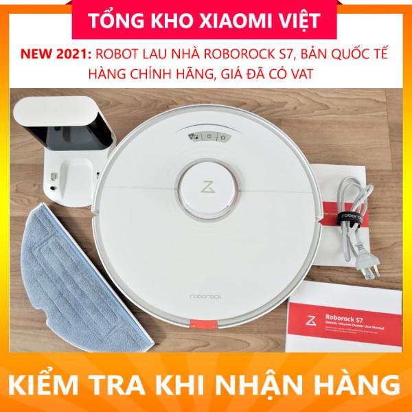 Robot Hút Bụi Lau Nhà Xiaomi Roborock S7 – Bản Quốc tế, Bảo Hành Chính Hãng 12 Tháng, FULL VAT