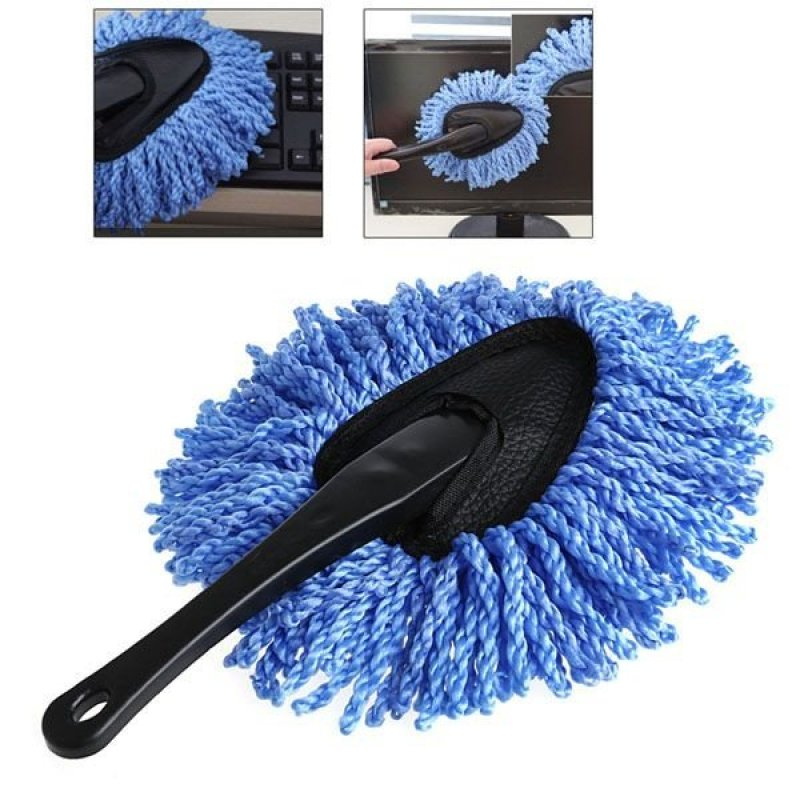 Chổi lau bụi ô tô bằng sợi bông mềm chống xước (xanh)21