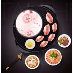 Hình ảnh Bàn nướng điện Electric Hot Pot and grill 2 in 1(Đen)