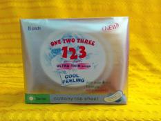 Hình ảnh Băng vệ sinh ONE TWO THREE 123 ban ngày 8 miếng