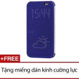 Giá Bán Bao Da Dot View Cho Htc One E8 Xanh Dương Tặng 1 Miếng Dan Kinh Cường Lực Cho Htc One E8 Glass Trực Tuyến