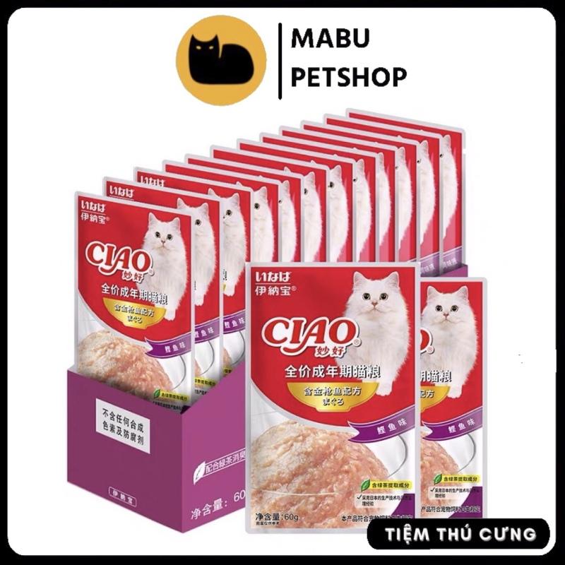 Pate CIAO 60g thức ăn cho mèo phân loại nhiều vị phong phú