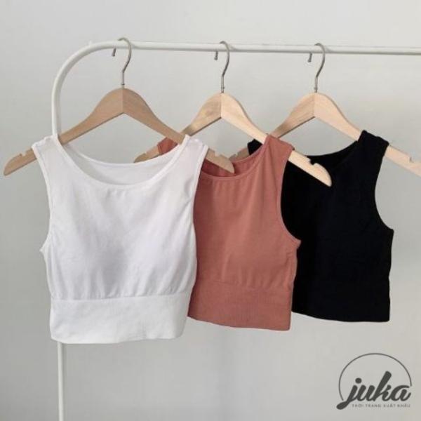 Gợi cảm quyết rũ cùng với áo Bra lót ngực tập gym yoga cao cấp. Chất cotton giúp ôm sát, co giãn khiến bạn tự tin tạo dáng