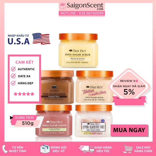 [Chọn Mùi] Tẩy Tế Bào Chết Toàn Thân Tree Hut Sugar Scrub ( 510g ) giá rẻ