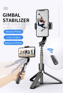 GẬY CHỐNG RUNG GIMBAL STABILIZER L08 - Selfie Stick Tripod, Selfieshow L08 Gimbal Cầm Tay Ổn Định Hỗ Trợ Quay Video Youtube, Vlog Travel, Tripod Cho Điện Thoại Thông Minh Android IOS, Chống Rung Khi Quay Video Vlog - Phụ kiện dương hiền thumbnail