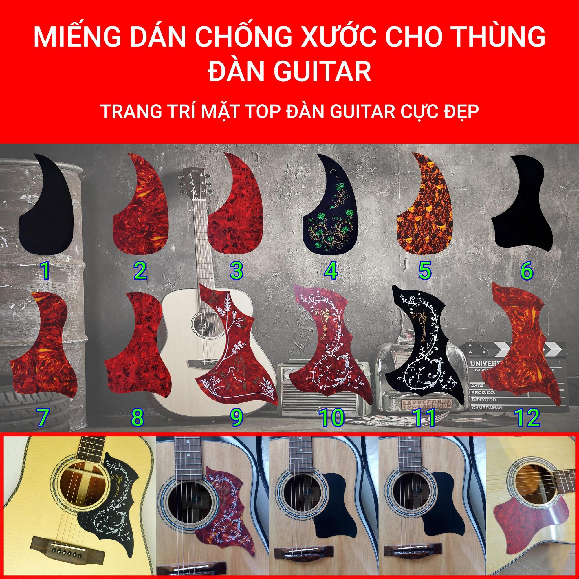 Hot Deal Khi Mua 12 MẪU | Miếng Dán Chống Xước Thùng đàn Guitar | Trang Trí Thùng đàn Guitar