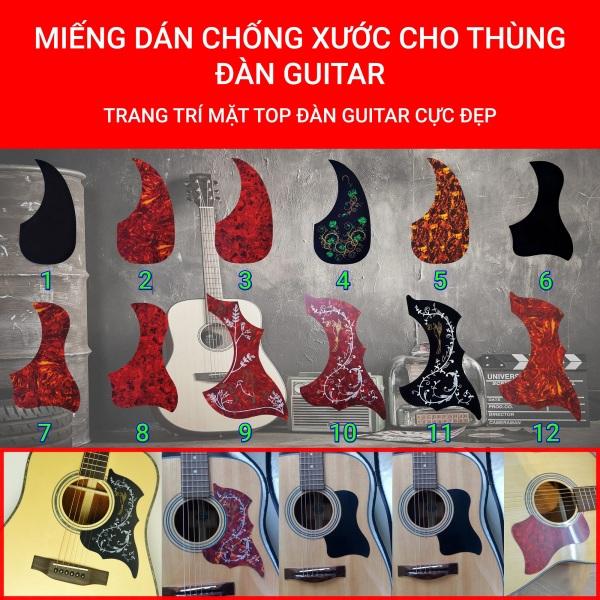 14 MẪU | Miếng dán chống xước thùng đàn Guitar | Trang trí thùng đàn Guitar