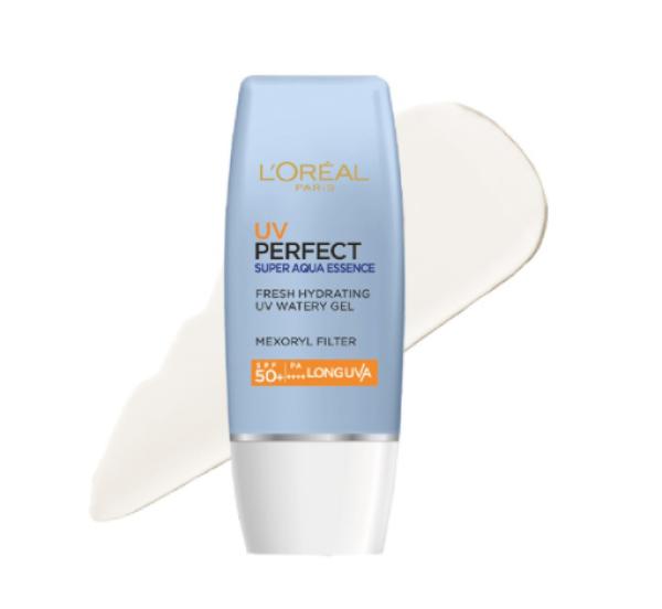 Kem Chống Nắng Dưỡng Ẩm Da Loreal Paris UV Perfect Super Aqua Essence SPF50+ PA++++ 30ml (Xanh Dương) giá rẻ
