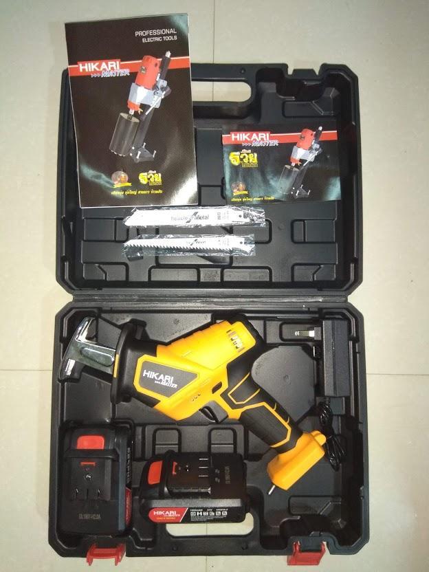 Máy cưa kiếm dùng pin 21v Hikari HR303-3 madein Thái Lan, Cưa cắt đa năng sắt,  gỗ, nhựa ,  ống nước ....tiện dụng