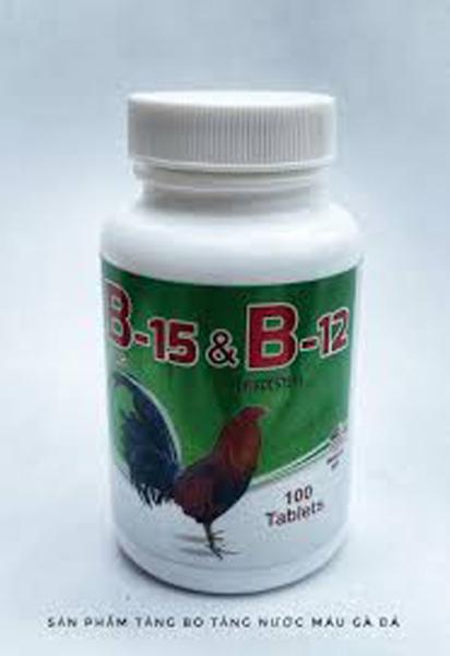 [ Giá rẻ] B15 B12  Nuôi-Cung Cấp Năng Lượng Cho Gà Đá Bo Lớn 50 viên
