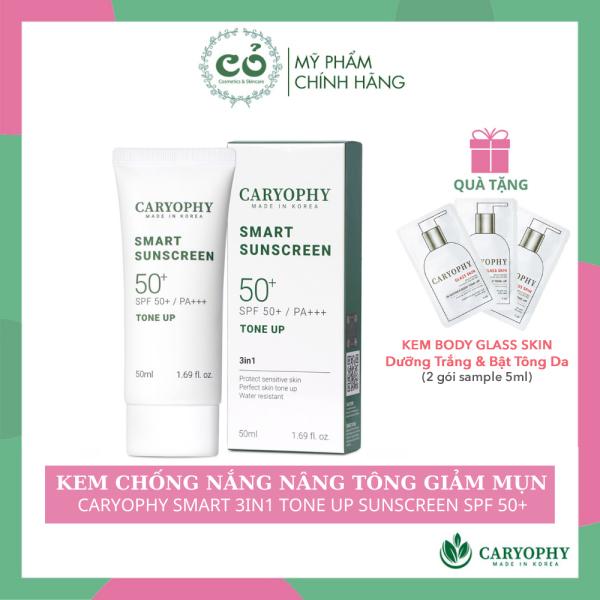 Kem Chống Nắng Thông Minh Caryophy Smart 3in1 Tone Up Sunscreen 50ml -KCN Nâng Tông Giảm Mụn Cho Da Nhạy Cảm