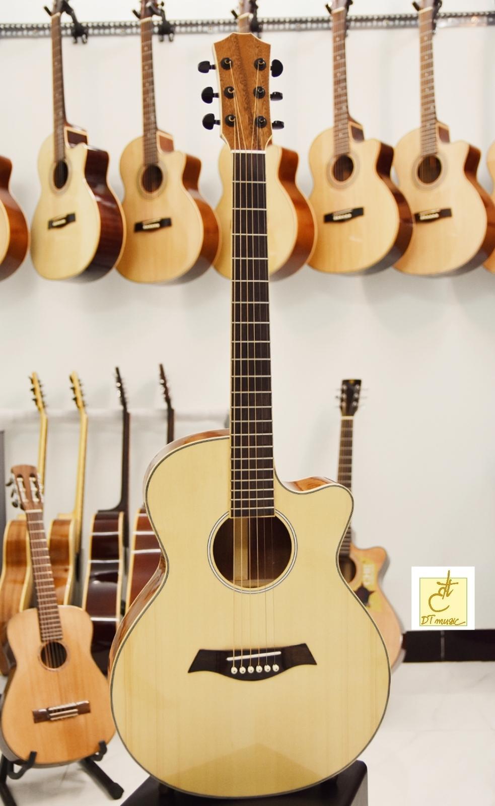 Guitar Acoustic  Gỗ Mahogany  DT-A25c3  Tặng kèm bao da và phụ kiện