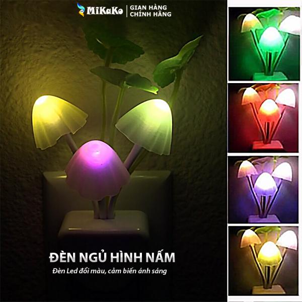 Đèn Ngủ Led Hình Nấm MiKaKo Cảm Ứng Ánh Sáng. Đèn Ngủ Hình Nấm Avatar Đèn Led Đổi Màu