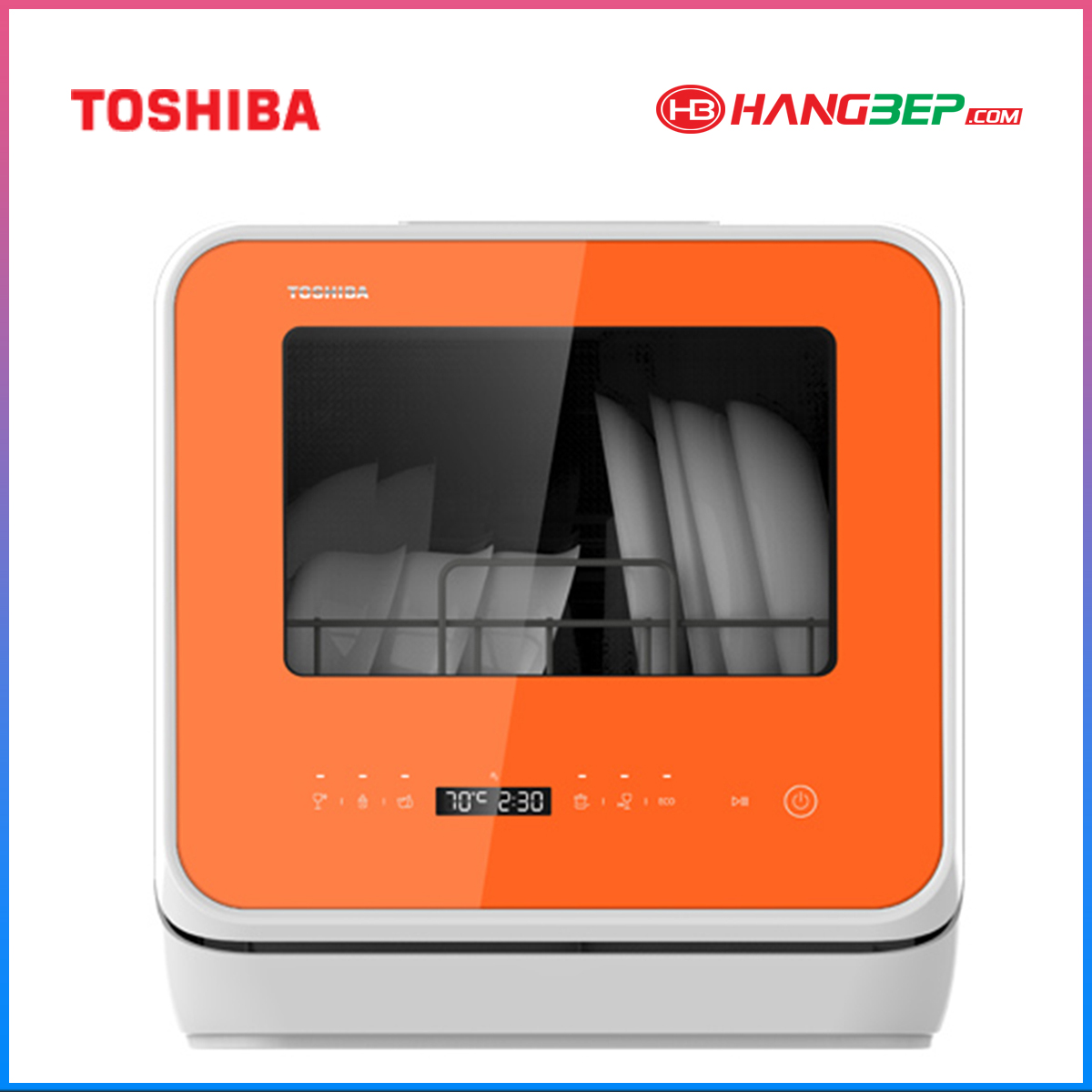 Máy rửa chén bát mini Toshiba DWS-22AVN - 3 bộ